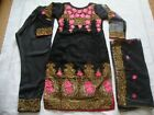 Fancy net embroidered black Stitched Pakistani Indian suit clearance sale £25