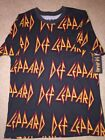 DEF LEPPARD skull Crown album Band JOE Elliott VINTAGE Retro MEN'S New T-Shirt