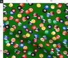 Pool Table Billiard Balls Red Billiards Fabric Printed by Spoonflower BTY $27.94 CAD on eBay