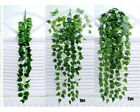 Artificial Fake Hanging Vine Plant Leaves Garland Home Garden Wall Decor Green