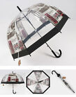 Long Umbrella for Women Lady London Picture European Style Transparent Umbrella