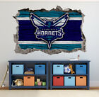 Charlotte Hornets Wall Art Decal 3D Smashed Basketball NBA Wall Decor WL183 on eBay