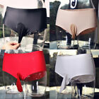 Men Sexy Oil Shiny Underwear Shorts Pantyhose Boxer Trunk JJ Sheath UnderpantsZN