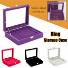 Kyпить Velvet Glass Jewelry Ring Display Earring Storage Organizer Box Tray Holder USA на еВаy.соm