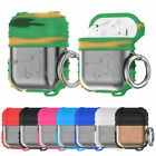 Metal + Rubber Drop Resistant Carabiner Strap Case For Apple AirPods Accessories