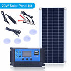 15/20/25W Dual USB Solar Panel Solar Controller Car Charger Battery For RV Boat