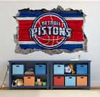 Detroit Pistons Wall Art Decal 3D Smashed Basketball NBA Wall Decor WL188 on eBay