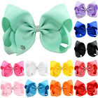 8 Inch Girls JOJO SIWA Large Hairbow Hair Bows Grosgrain Ribbon Clips Bowknot