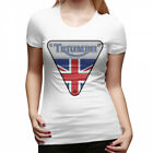 Women's Triumph Motorcycles Logo T Shirts $18.61 CAD on eBay