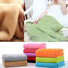 New 1PC 50X70cm Plush Blanket Living Room Solid Soft Warm Quilt Sofa Bedding image