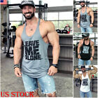 US Men Gym Singlet Tank Top Tee Stringer Bodybuilding Y-Back Muscle T Shirt Vest