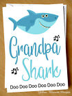 Funny Birthday Fathers Day Card Grandpa Shark Grandad Child Kid Song Cute Love