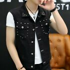 Fashion Men Vest Jacket Singlr Breasted Solid Youth Summer Leisure Waistcost New