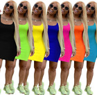 Women's Summer Sleeveless Bandage Bodycon Sexy Party Cocktail Club Casual Dress