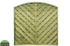 Madrid Modern Garden Fence Panel Tanalised, European Fence Arch Top Panel