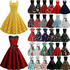 Womens 50s 60s ROCKABILLY Style Swing Pinup Vintage Housewife Party Skater Dress $13.77 USD on eBay
