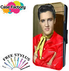 HANDSOME ELVIS PRESLEY YELLOW SCARF - Leather Flip Wallet Phone Case Cover