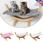 Wooden Pet Hammock Bed Cat Hanging Kitty Relaxing Sleeping Cosy Raised Nest
