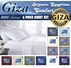 Giza As Seen On Tv 2000 Series 6 Piece Sheet Set *END OF YEAR CLOSEOUT* image