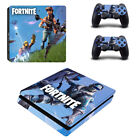 Fortynite Skin Sticker for Sony PS4 Slim Console & 2 Controllers