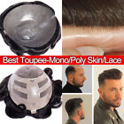 Natural Toupee For Men 100% Human Hair System Hairpieces Replacement Wig Skin US $112.99 USD on eBay