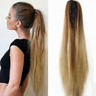 femmes 125g Party Highlights Clip in on Hair Extensions Extensions de cheveux