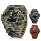 Army Men Camouflage Watch SHOCK Military Outdoor Waterproof Wristwatch Backlight image
