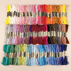 50-300 Color Cross Stitch Thread Embroidery Floss Sewing Skeins 100% Cotton Line