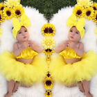 Newborn Kid Baby Girl Clothes Ruffle Tube Tops Tutu Skirt Dress 3pcs Outfits Set