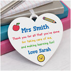 Teacher Thank You Gift PERSONALISED Teacher Assistant Nursery Heart Plaque Gifts