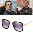 Tony Stark Flight 006 Style Sunglasses Men Square Fashion Avengers Downey JR