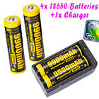 9900mAh 10Pcs Powerful 18650 Battery Li-ion 37v Rechargeable Battery + Charger