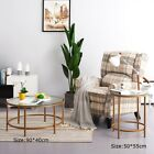 Round Coffee Table Gold Frame With Glass Centre Table Living Room Furniture New
