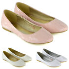 Womens Lace Wedding Shoes Ladies Flat Slip On Bridesmaid Pumps Size 3-9