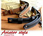 MILITARY GENUINE LEATHER BAND LACO WW2 AIR FORCE WATCH STRAP 16mm 18mm 20mm 22mm