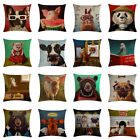 Animals Dog Scenes Printing Pillow Case Linen Cushion Cover Home Sofa Car Decor image