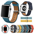 Genuine Leather Watch Strap Bracelet Wrist Band For Apple Watch 1/2/3/4 38/42mm image