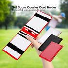 PU Golfer Score Counter Keeper Card Holder Gift Sports Accessories With Pencil