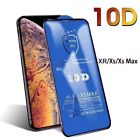 Screen Protector for iPhone XR,XS,XS MAX 9H 10D Curved FULL COVER TEMPERED GLASS