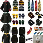 Harry Potter Cloak Vest Tie Scarf Robe Fancy Costume Cosplay Adult Kids Hogwarts