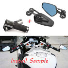 "UNIVERSAL MOTORCYCLE 7/8"" HAND GRIPS BAR END MIRRORS For Triumph Speed Triple $29.45 USD on eBay"