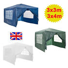 3x3m 3x4m 3x6m Party Tent 120G PE Outdoor Marquee Event Gazebo Patio 3 Colours