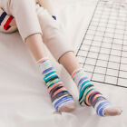 Women Cotton Socks Fashion Colours Striped Girl Ankle High Casual Lovely Cute