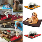 Washable Pet Dog Puppy Cat Kennel Pad Bed Warm Soft Fleece Mat Cushion Cage Nest