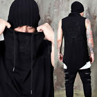NewStylish Mens Embroidered skull turtleneck sleeveless shirts
