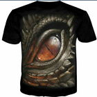 Colorful Skull 3D Print Women Men's Casual T-Shirt Short Sleeve Graphic Tee Cool