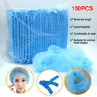 100pcs Hair Net Hat Bouffant Cap Disposable for Kitchen Medical Cleaning Workers