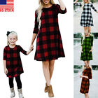 Mother And Daughter Clothes Plaid Parent child Dress Family Matching Baby Girl