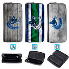 Vancouver Canucks Leather Long Women Wallet Clutch Purse Zip Around $15.99 USD on eBay