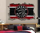 Toronto Raptors Wall Art Decal 3D Smashed Basketball NBA Wall Decor WL206 on eBay